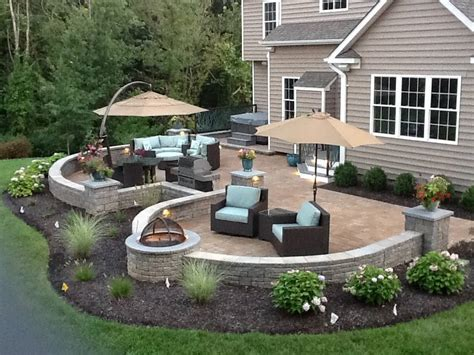 patio garden ideas landscape around double patio pinteres