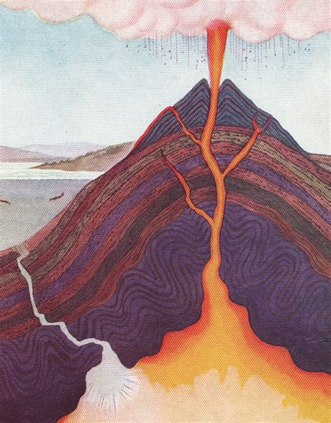 volcano cross section volcano cross section cross sections cutaways