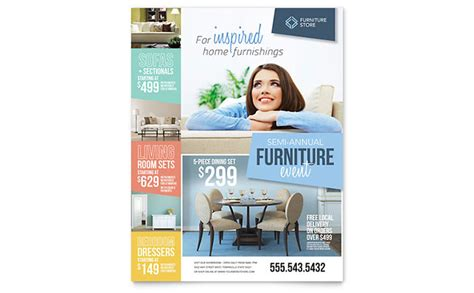 home furnishings flyer template design