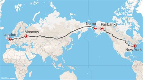 usa map km road from europe to u s russia proposes superhighway