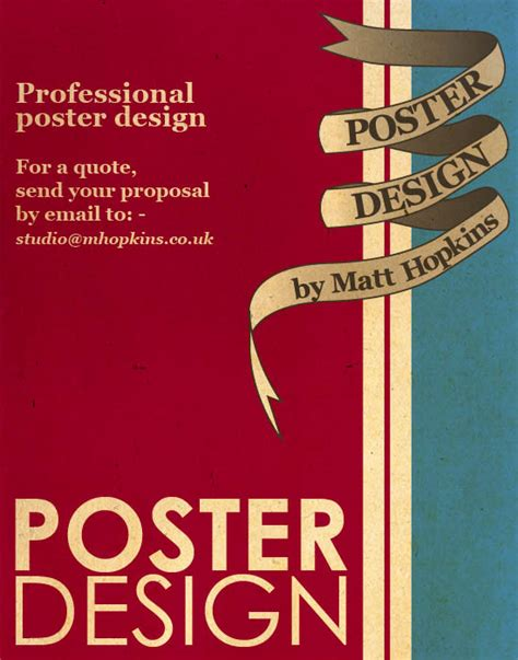 design poster online uk poster design by matt hopkins