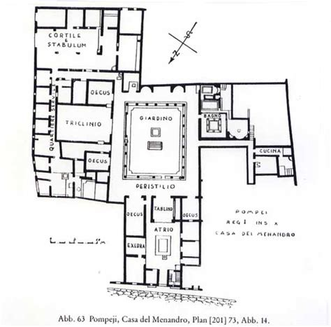 layout of pompeii house house of menander roman plans roman to gothic