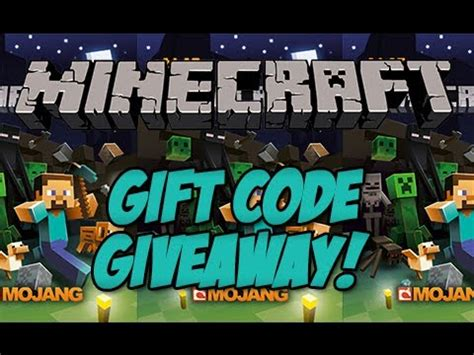Free Minecraft Gift Code Giveaway - minecraft free gift code giveaway over youtube