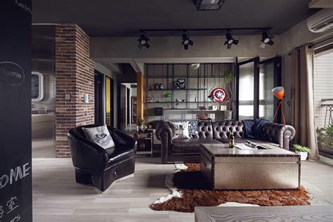 Bachelor Apartment Pictures Marvel Themed Industrial Bachelor S Apartment In Taiwan
