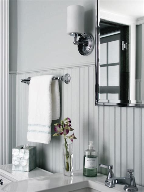 white beadboard mirror bathroom with beadboard classic style homesfeed