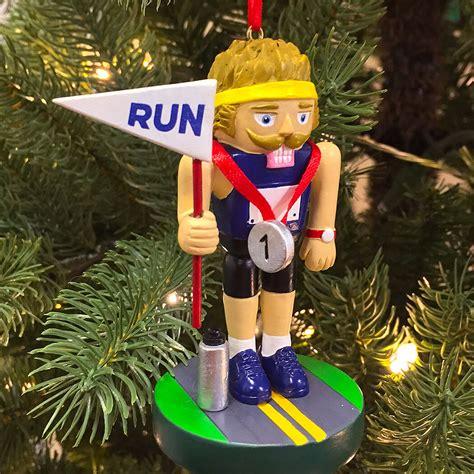 runner nutcracker resin ornament gone for a run