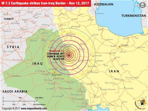 earthquake mp iran earthquake map areas affected by earthquake in iran