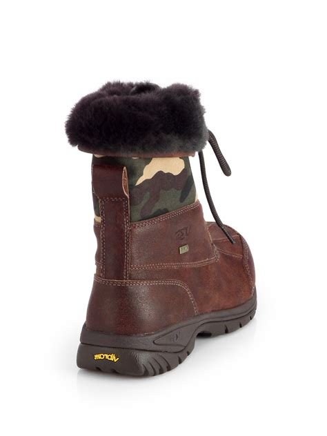 ugg butte boots ugg butte camo waterproof boots in brown for lyst