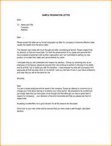 How To Write A Letter Of Resignation Exles by 9 How To Write Letter Of Resignation Ledger Paper