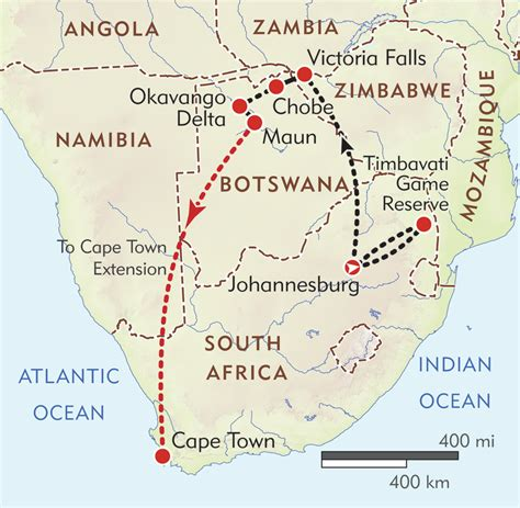 africa map falls wt botswana south africa and falls wilderness