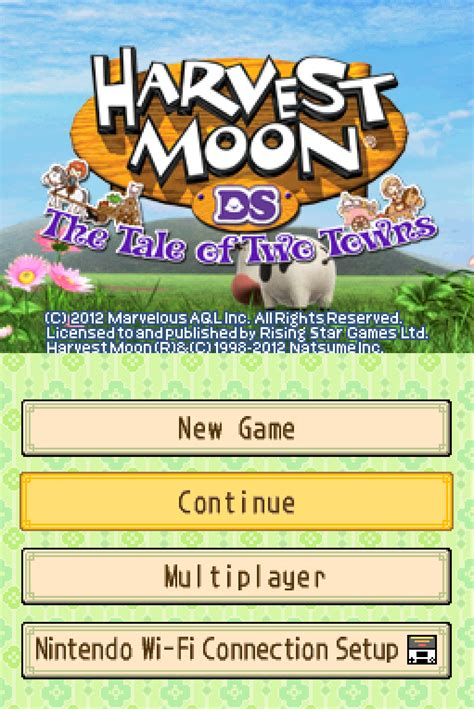 emuparadise harvest moon ds harvest moon ds the tale of two towns u rom