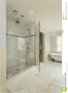 Luxury master bathroom with enclosed glass shower royalty free stock photos image 32371158