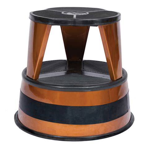Rolling Kitchen Stool by Cramer Kik Step Rolling Step Stool Copper In Step Stools