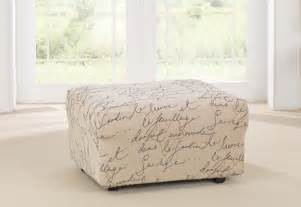 Ottoman Slipcover Sure Fit Stretch Pen Pal By Waverly Ottoman Slipcover