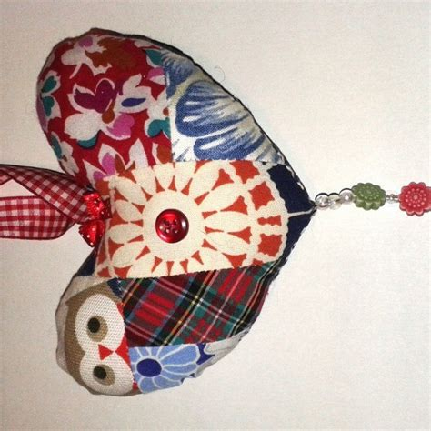 Owl Patchwork Bag 02 patchwork owl fabric decoration conscious crafties