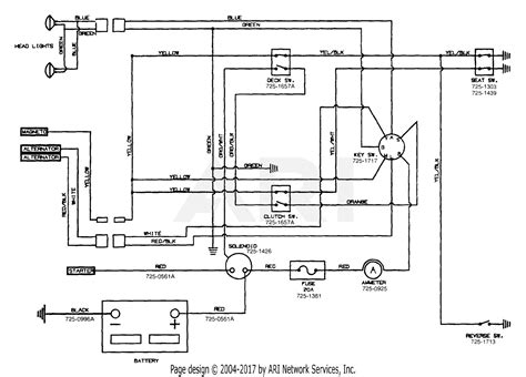 mtd aih  parts diagram  electrical