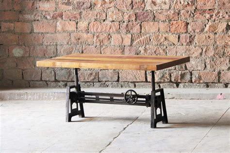 adjustable height dining table hyatt fulton industrial adjustable height coffee dining