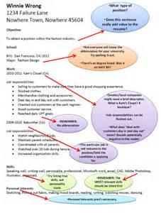 examples of bad resumes jac 200