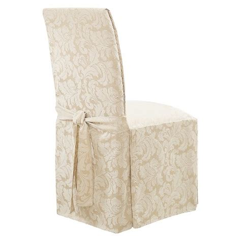 sure fit dining room chair covers sure fit scroll dining room chair slipcovers target