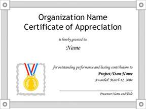 Templates For Certificates Of Appreciation Free Certificate Of Appreciation Templates For Word