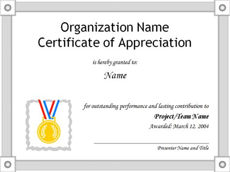 free templates for certificates of appreciation certificate of appreciation template
