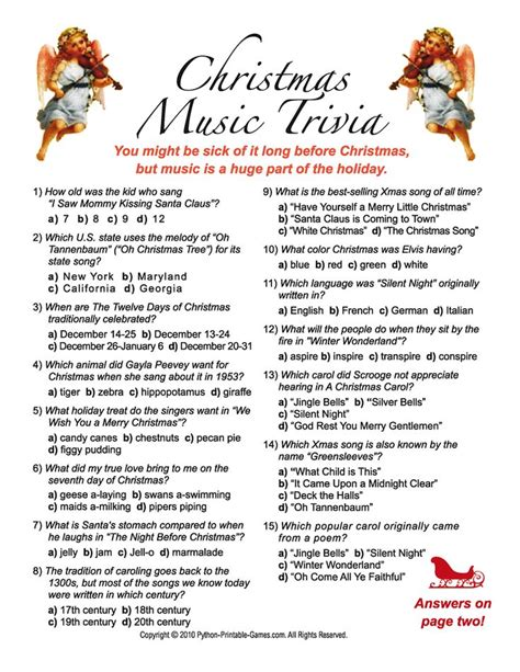 printable christmas games and quizzes christmas trivia with answers 25 best christmas trivia