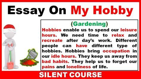 Essay About Gardening by Essay On My Hobby In Essay On My Hobby Gardening