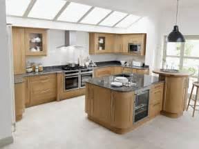 broadoak contemporary wood kitchen in oak