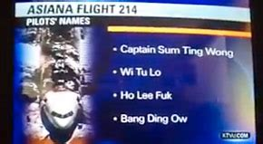 funny fake names local tv news reports as real fake joke names for asiana