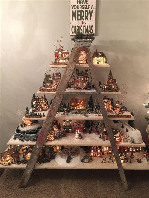 christmas village ladder display best 25 ladder display ideas on display ideas display and