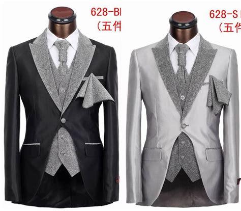fashion five pieces slim fit tuxedo suit high grade