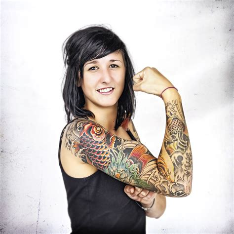 girls with tattoo sleeves arm for meaning pictures tattooing