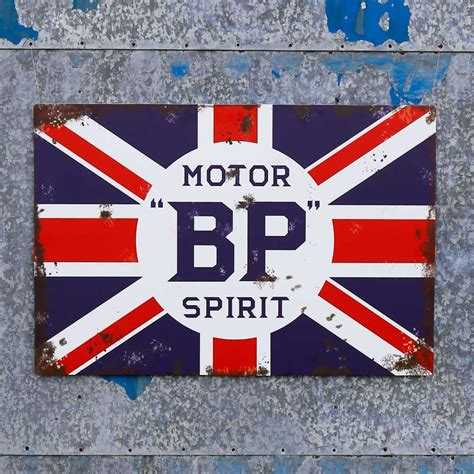 Garage Sign by Jaf Graphics Bp Motor Spirit Sign Vintage Garage Sign