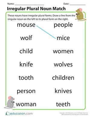 nouns | worksheet | education.com