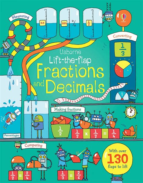 the outside consultant books lift the flap fractions and decimals at usborne children