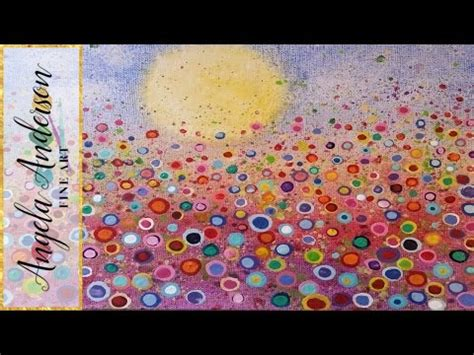 youtube tutorial ideas floral landscape acrylic painting tutorial yvonne coomber