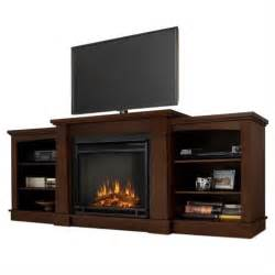 Real flame hawthorne electric fireplace tv stand in dark espresso