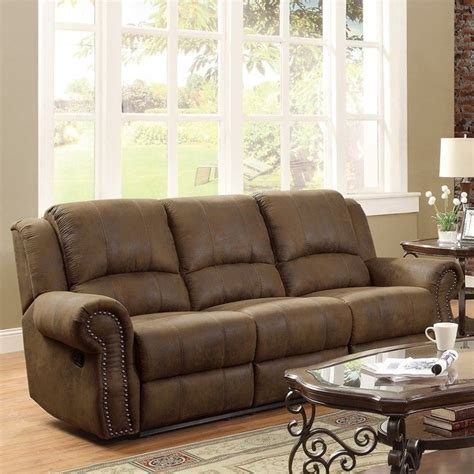 coaster reclining sofa coaster rawlinson microfiber motion reclining sofa in