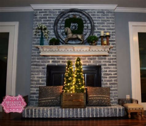 brick fireplace mantels painted brick fireplace farmhouse inspiration hometalk