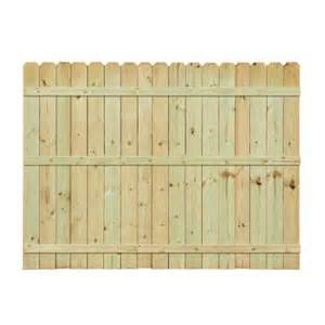 home depot wood fence 6 ft h x 8 ft w pressure treated pine ear fence