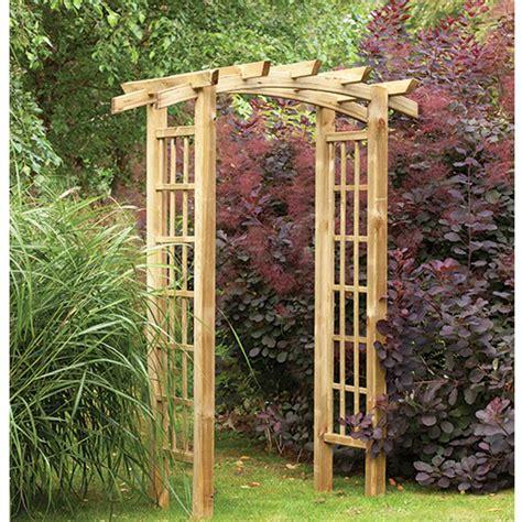trellis arch top ryeford bow top pergola style timber garden arch trellis