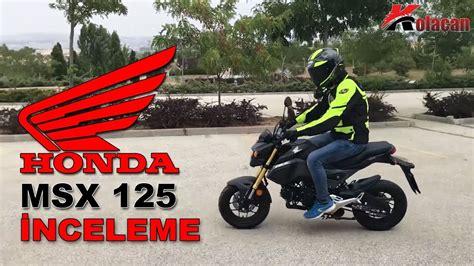 honda msx  motosiklet detayli inceleme youtube