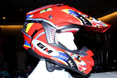 Helm Nhk Cross One helm gm mini cross gak perlu diganjal handuk gilamotor