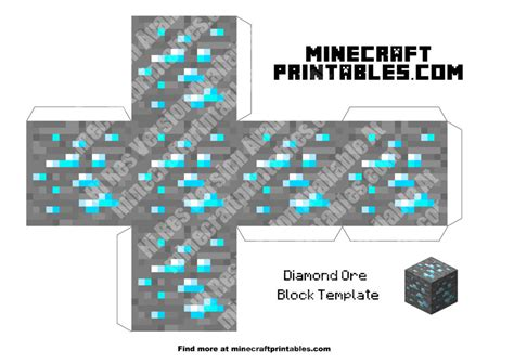 Free Minecraft Papercraft - ore printable minecraft ore papercraft