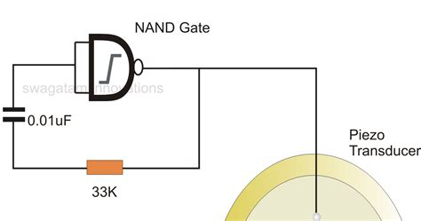 simplest piezo driver circuit explained circuit diagram