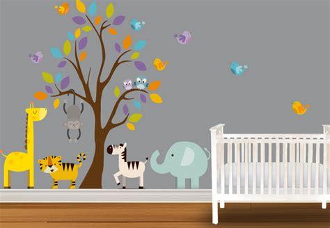 deco chambre enfant jungle decoration chambre bebe theme jungle deco maison moderne