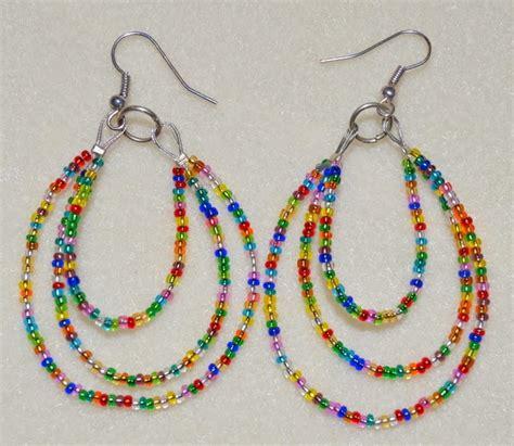 beading earrings creative hobby supplies multi loop seed bead earrings