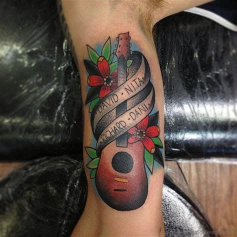 rose tattoo chords ultimate guitar 40 cool guitar tattoos on leg