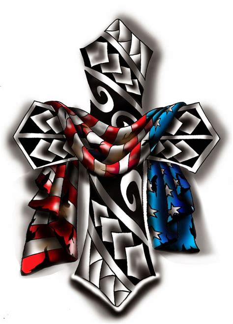 american flag cross tattoo collection of 25 metal cross and american flag tattoos