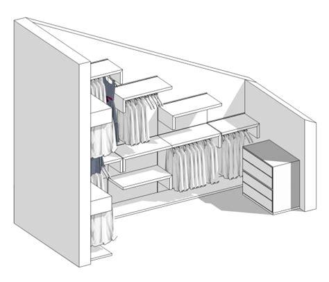 progetti cabine armadio il progetto di una cabina armadio in mansarda
